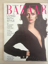 """Magazine Harper's BAZAAR JUNE 1968 """"Living with Style"""" Collection Vintage Mode"""