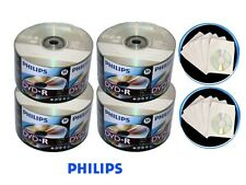 200 PHILIPS 16X Blank DVD-R Disc + 200 Paper Sleeve + Free Expedited Shipping