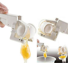 EZ Egg Cracker Handheld York & White Separator On TV Kitchen Gadget Tool Easy