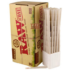 RAW Organic Kingsize Hemp Cones 800 Cones Per Box - Great Value