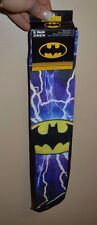 2 Pairs of Men's Batman Logo Crew Socks Shoe Size 6-12 Licensed HYP Sock