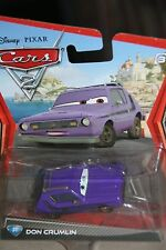 "DISNEY PIXAR CARS 2 ""DON CRUMLIN"" BLUE/GREEN  EYES, SHIP WW, NEW IN PACKAGE"