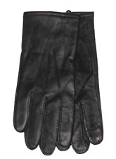 $135 CLUB ROOM MEN'S BLACK LEATHER CASHMERE CASUAL DRESS TECH GLOVES SIZE M