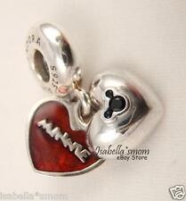 DISNEY COLLECTION Authentic PANDORA Enamel MICKEY MINNIE HEART Dangle Charm/Bead