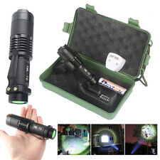LED Flashlight Mini 4000LM CREE T6 Tactical Torch Bike Light 18650 Battery Mount