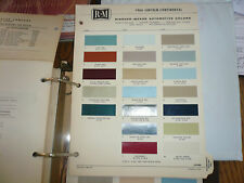 1966 Lincoln Continental R-M Color Chip Paint Sample