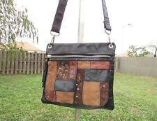 Fossil Black Leather Multicolor Patchwork Crossbody Bag Shoulder Purse