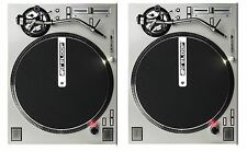 2 RELOOP RP-7000 SILVER TURNTABLES - HIGH TORQUE DIRECT DRIVE TWIN SET Auth. DLR