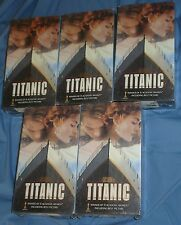 5 COPIES OF TITANIC TWO-TAPE VHS CASSETTE,NEW & SEALED, RARE, 11 ACADEMY AWARDS