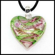 Fashion Women's Love lampwork Murano art glass beaded pendant necklace #M48