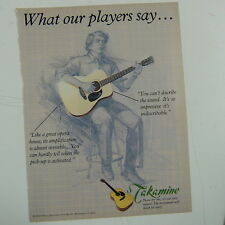 retro magazine advert 1984 TAKAMINE GUITARS