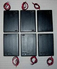 Battery holder for 3 X 'AA' (UM-3) cell - hard case - with switch - pack of 6