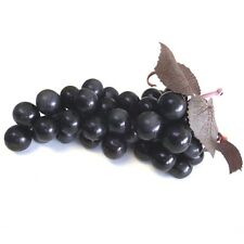 Artificial Black Grapes Bunch - 18 x 8.5cm - Decorative Plastic Fake Fruit Grape