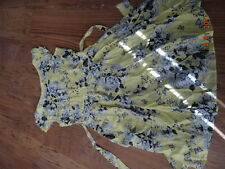 WOMEN'S DOROTHY PERKINS YELLOW, GREY AND BLACK KNEE LENGHT DRESS size 12 IN VGC