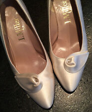 Vintage Women's I. Miller Silk Shoes with Leather Soles