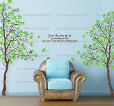 XLarge Green Twin Tree Wall Stickers Home Decor Living Room Decal Art Vinyl UK