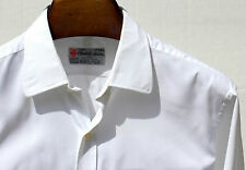Turnbull & Asser England 17/34 Gent's White Piqué French Cuff Shirt - $365.00
