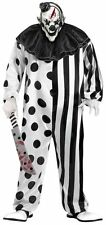 Killer Circus Clown Costume Mens Halloween Horror Scary Pennywise + Mask