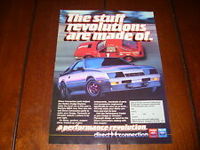 1984 DODGE DAYTONA DIRECT CONNECTION RACE CAR ***ORIGINAL AD***