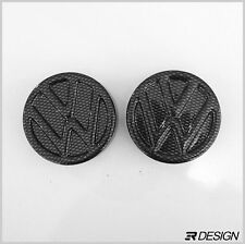 Volkswagen Golf MK3/4 Strut Cap Covers - Carbon Effect ABS- VW GTI R32 TDI