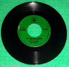 "PHILIPPINES:BILLY PAUL - Me And Mrs.Jones,Your Song (Elton John),7"" 45 RPM,RARE"