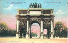 Carte postale, PARIS, Arc de triomphe du Carrousel, écrite au revers.