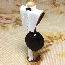 Pat Tyler Dollhouse Miniature Male Top Hat Dress Form Mannequin Figure