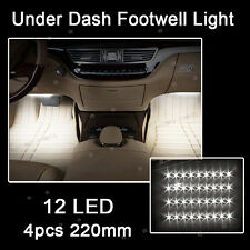 White 12LED Interior Kit Glow Under Dash Foot Well Seats Inside Light For Mazda