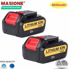 2 Packs For DeWalt 20V 20 Volt Max XR 4.0 Amp Lithium Ion Battery  DCB204-2