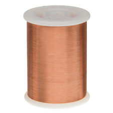 "43 AWG Gauge Enameled Copper Magnet Wire 1.0 lbs 66092' Length 0.0024"" 155C Nat"