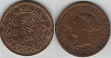 1887 Canada Large Cent Coin.