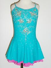 CUSTOM MADE TO FIT Lovely Figure Skating Dress WITH CRYSTALS