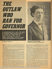 """Al Jennings """"The Outlaw Who Ran For Governor""""+Genealogy"""