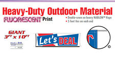 LETS DEAL Banner Sign used car sale vehicle we finance buy here pay here signs