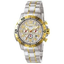 Invicta Men's Gold Tone Plated Ceramic Dial Sport Chronograph Two Tone Watch NEW