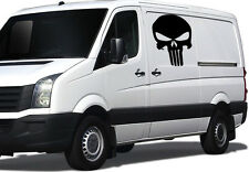 2 x EXTRA LARGE PUNISHER STICKERS Mirrored Car Van Truck Window JDM Vinyl Decal