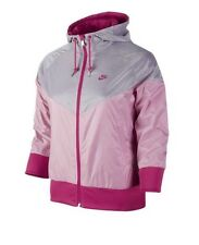 Brand New Nike Liberty Windrunner Women's Running Jacket - Pink/Grey - Small