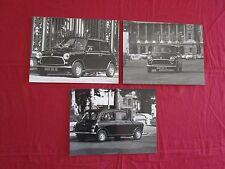 N°9119 / Austin mini 1975 environ ,3 photos d'epoque dans Paris