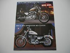 2000 HARLEY DAVIDSON SPORTSTER 883 1200 CUSTOM FACTORY BROCHURE SPEC SHEET