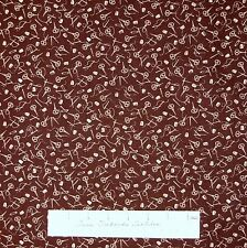 Sewing Fabric - Make Do & Mend Scissors Thimble Notions on Brown - Benartex YARD