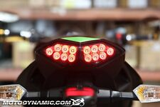 2010-2013 Kawasaki Z1000 Versys 11-16 Ninja 1000 SEQUENTIAL LED Tail Light SMOKE