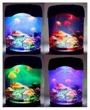 COLOURFUL LED JELLYFISH TANK SEA SWIMMING MOOD LAMP NIGHT LIGHT MULTI COLOURED
