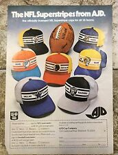 Vintage 1977 Magazine Advertisement - AJD Cap Company NFL - Print Ad