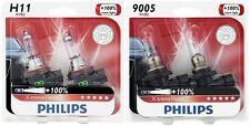 4x Philips 9005+H11 X-TremeVision 100% More Super Bright Light Upgrade Bulb 65W
