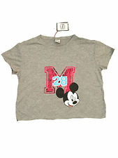 LADIES WOMENS DISNEY MICKEY MOUSE SEQUIN OFFICIAL GREY T SHIRT PRIMARK BNWT 16