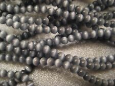 Grey Cat's Eye Round 3mm Beads 129pcs