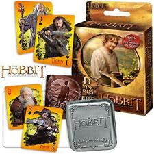 HOBBIT AN UNEXPECTED JOURNEY 3D LIMITED ED LENTICULAR PLAYING CARDS SET IN TIN