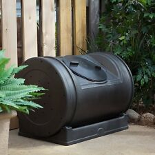 Compost Tumbler Garden Waste Bin Grass Trash Barrel Fertilizer Leaves 52 Gallon