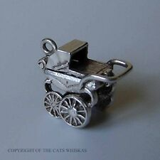 VINTAGE SILVER NUVO OPENING PRAM CHARM