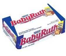 Baby Ruth Candy Bar 24 Ct. Milk Chocolate, Peanuts Nougat Caramel Fresh
